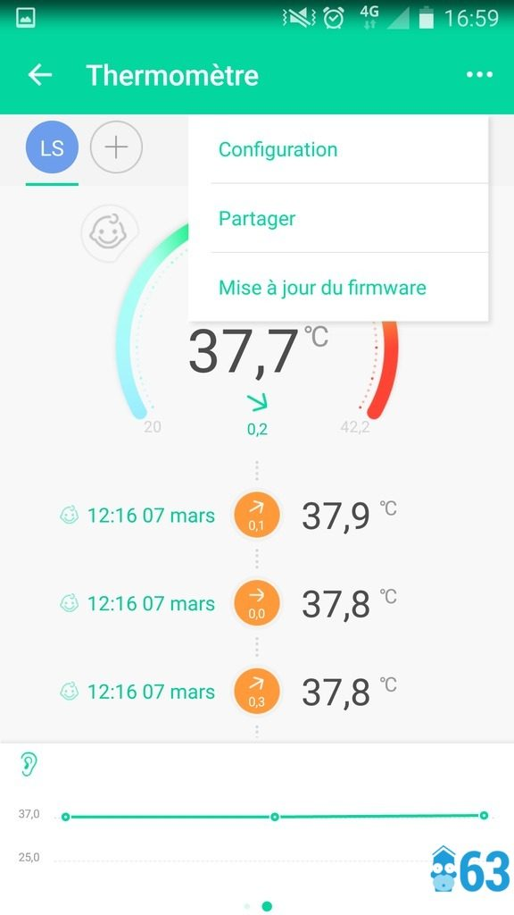 Thermomètre Bluetooth Koogeek