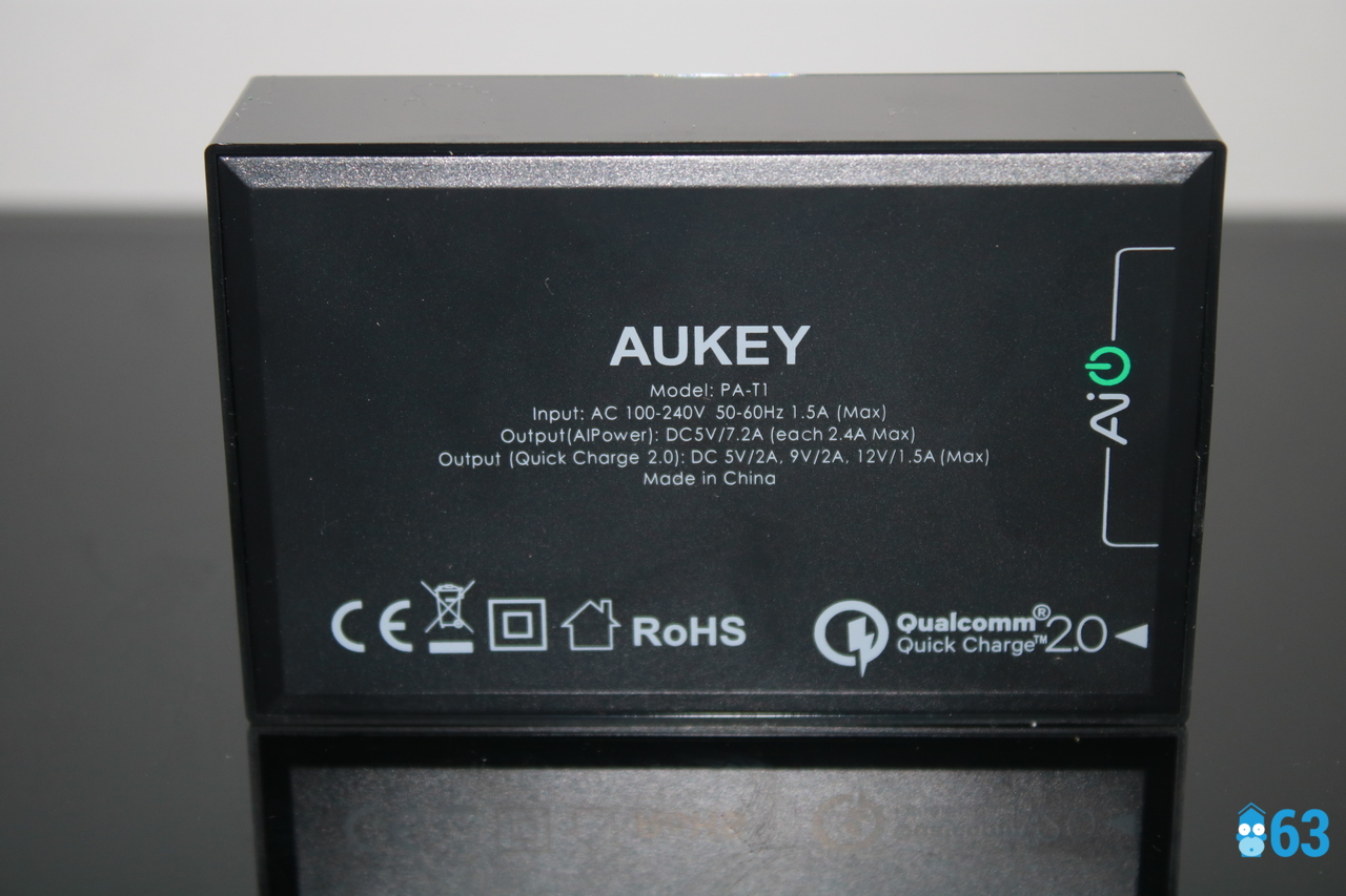 Chargeur USB 5 ports Aukey