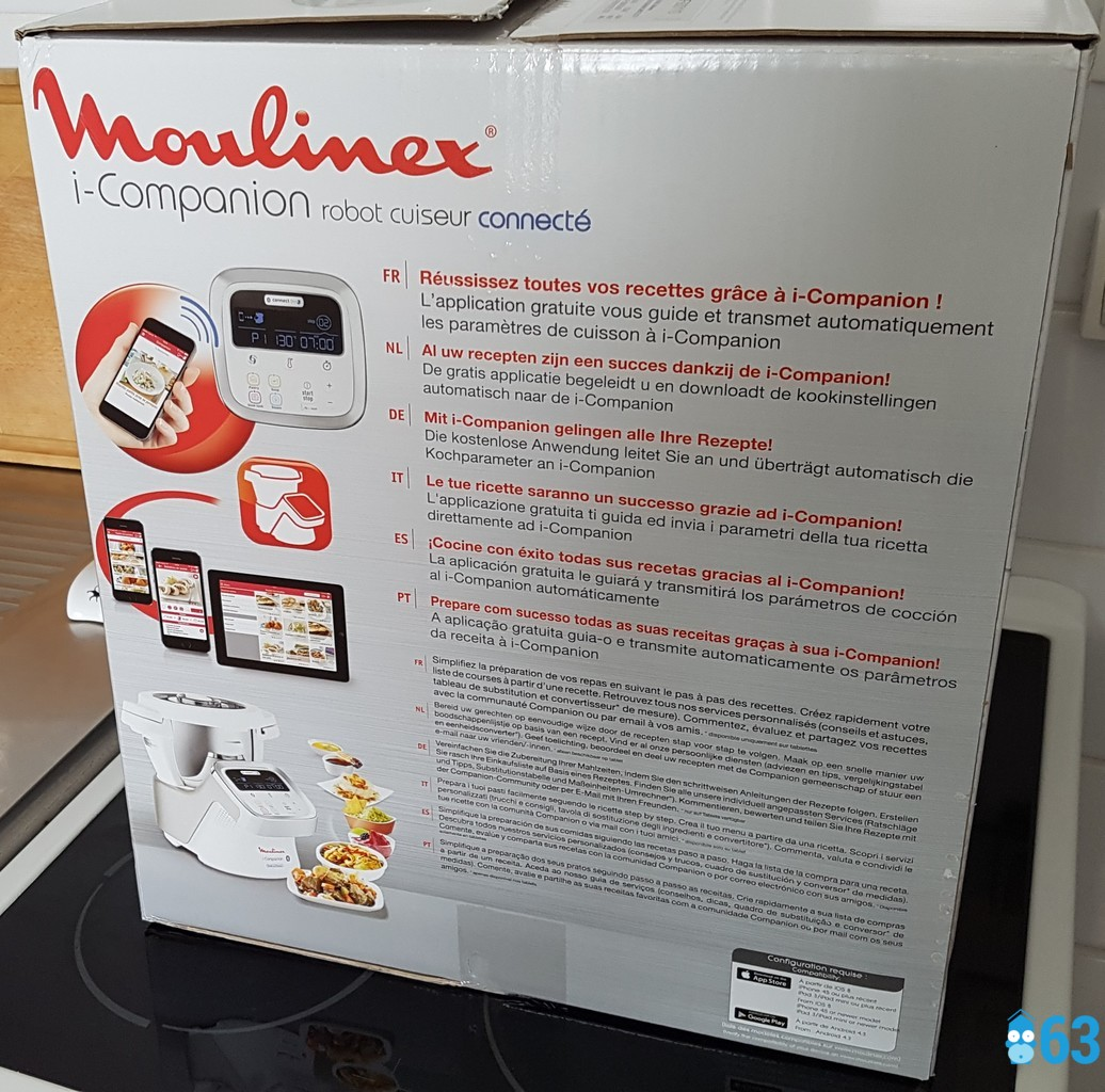 I companion de moulinex le robot multifonctions connect d ballage test avis la domotique - Www moulinex fr companion ...