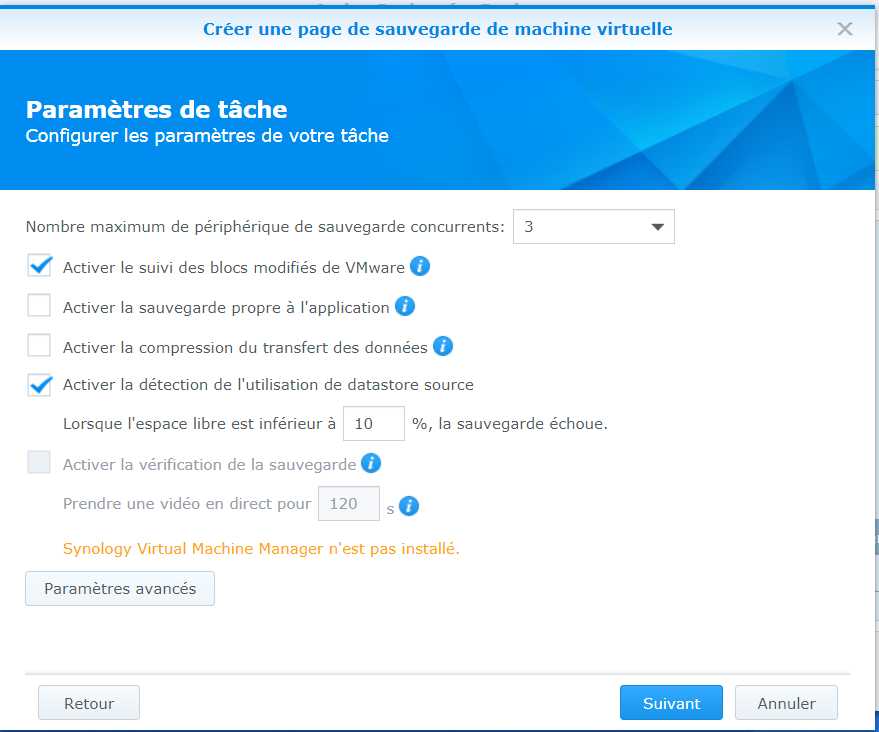 Nas Synology Active Backup